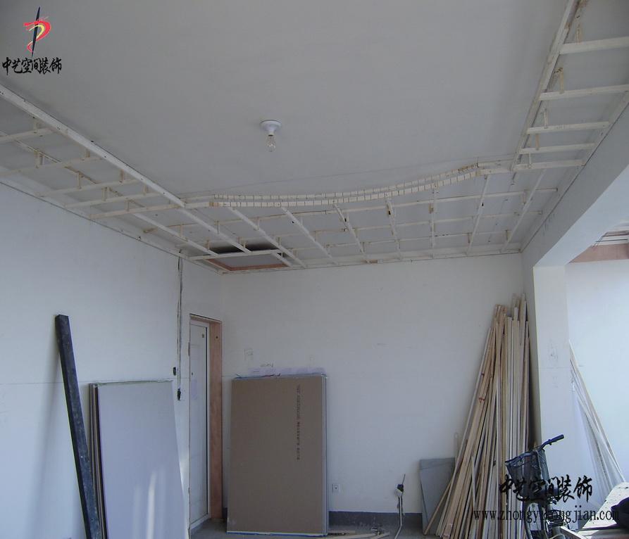 石家庄装修公司--木龙骨吊顶工艺施工案例效果图