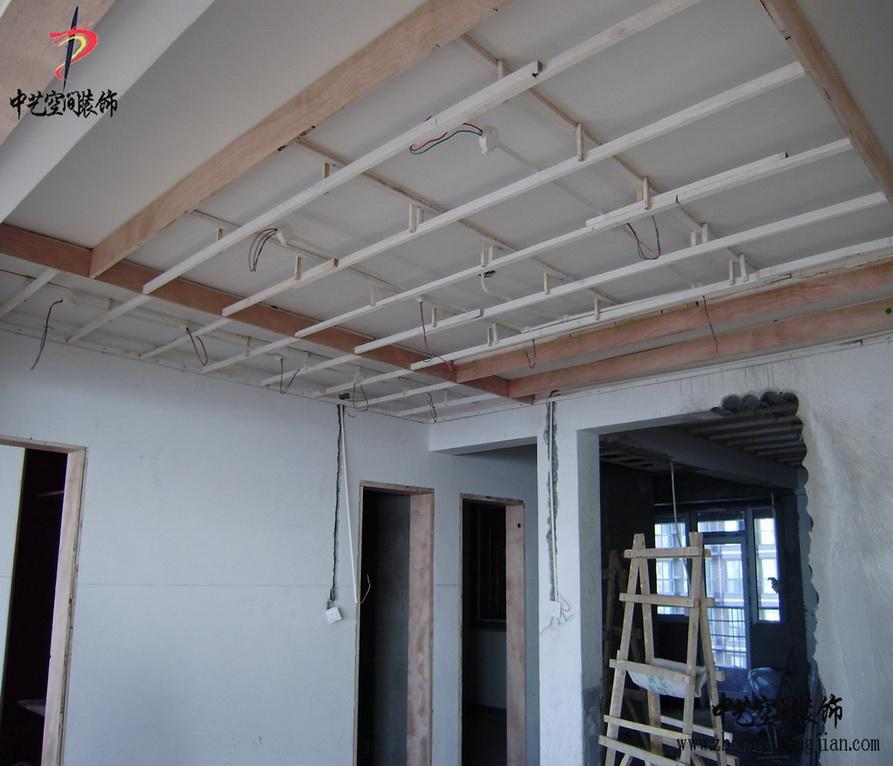 石家庄装修公司--木龙骨吊顶工艺施工案例效果