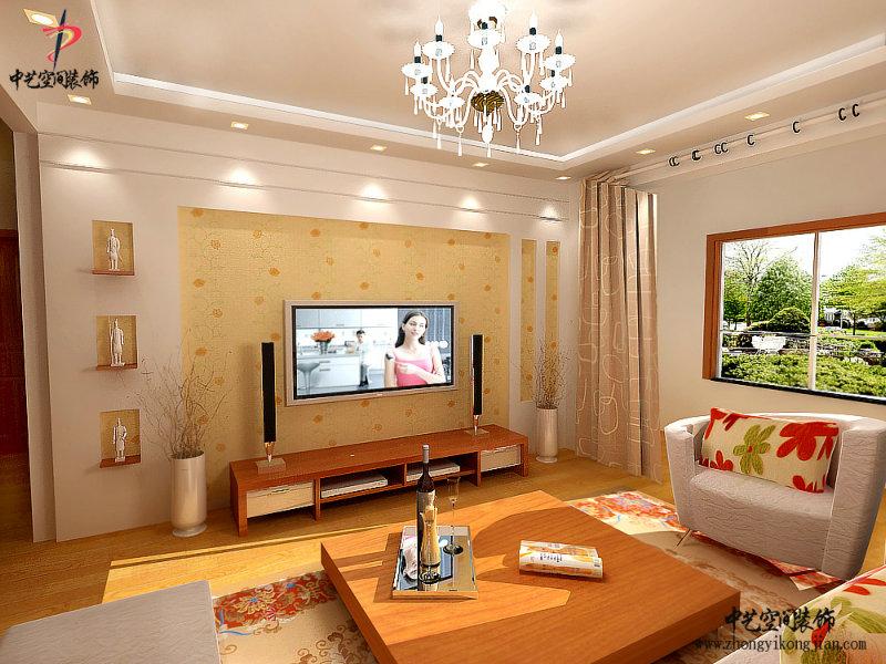 客厅电视墙设计效果