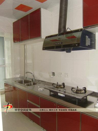 石家庄装修公司--厨房橱柜吊柜厨房电器安装制作效果