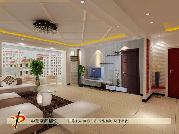 石家庄客厅电视墙门厅造型设计效果图
